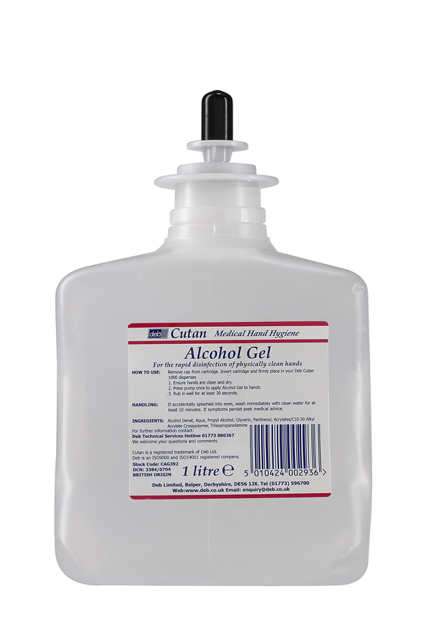 Deb Cutan Alcohol Gel Hand Sanitiser 1l