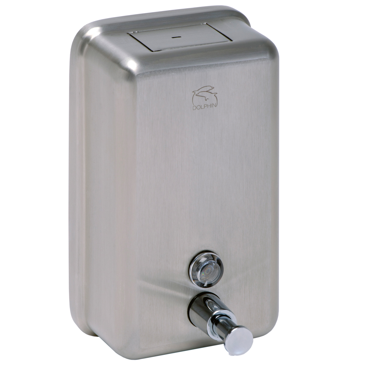 S/Steel Soap Dispenser Satin Vertical