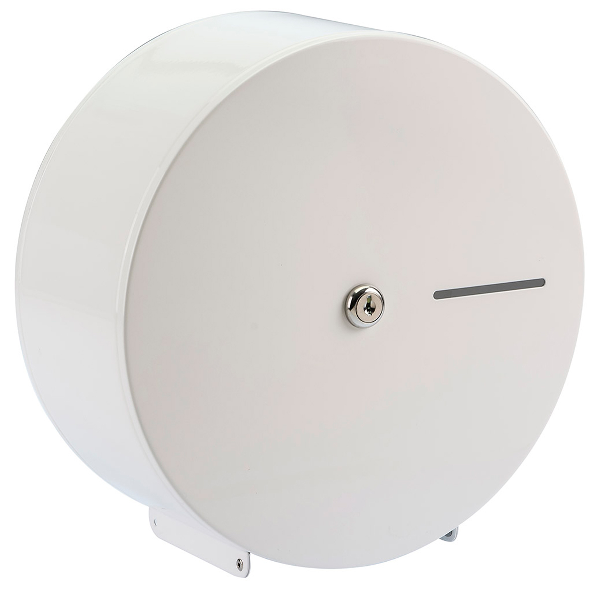 Metal Mini Jumbo Toilet Roll Dispenser (WH)