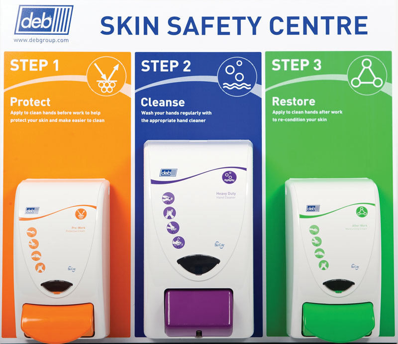Deb Skin Safety Centre Board (2x1000, 1x2000 Dispensers)