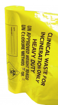 Yellow Clinical Waste Sacks Standard