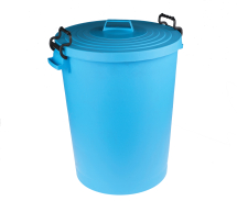 Blue Dustbin with Lid 110ltr