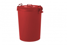 Red Dustbin with Lid 110ltr