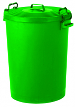 Green Dustbin with Lid 110ltr
