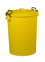 Yellow Dustbin with Lid 110ltr