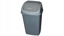 Plastic Swing Top Bin 25ltr Grey