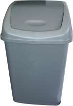 Plastic Swing Top Bin 50ltr Grey