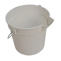 10ltr White Bucket with Lip