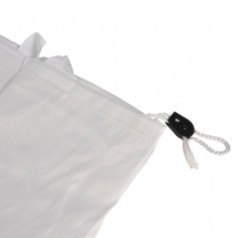 Laundry Bag with Pull String White