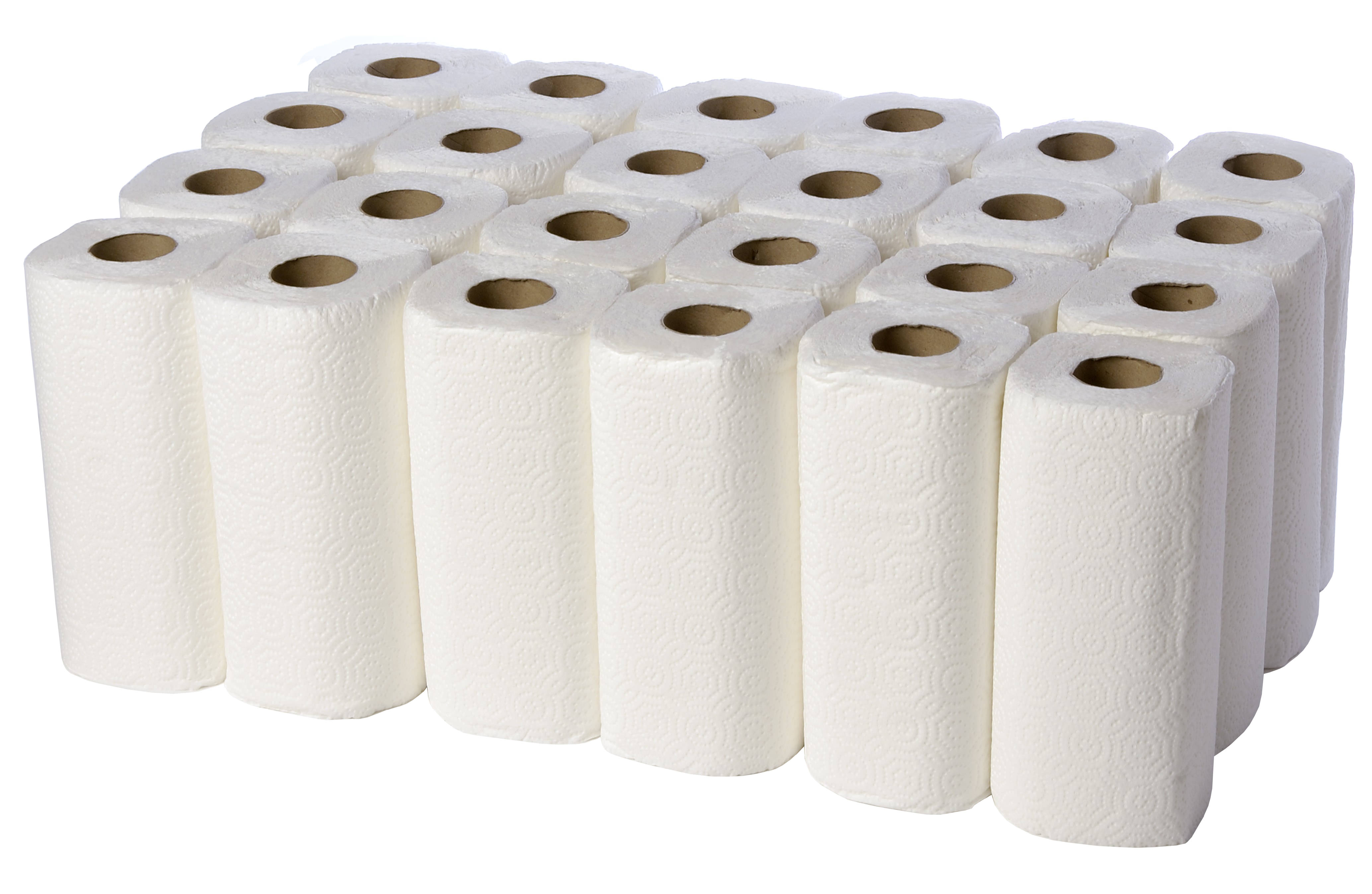 Kitchen Rolls 2Ply White