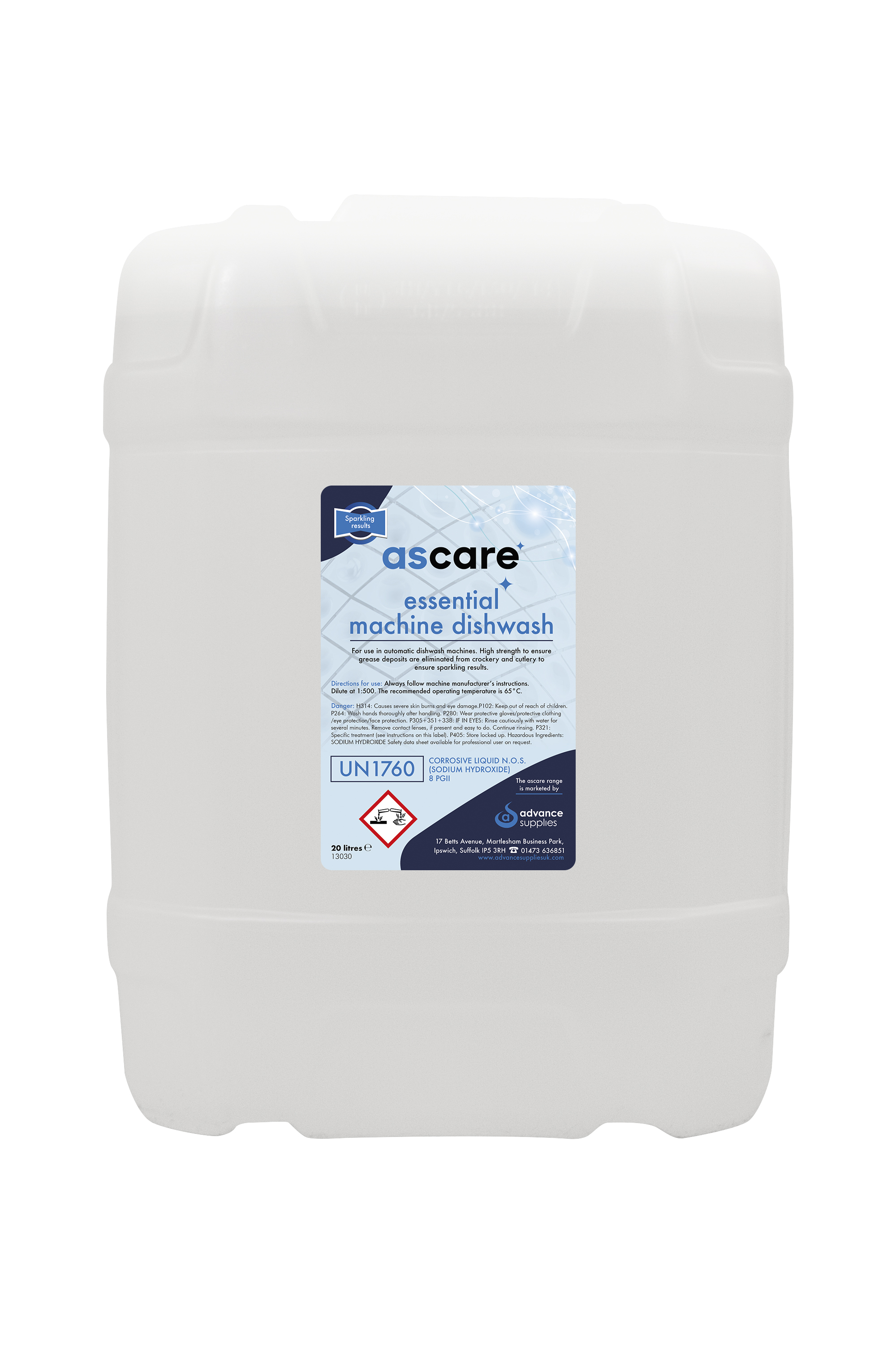 Ascare Machine Dishwash Liquid 20l
