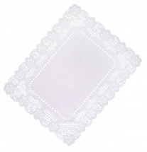 White Lace Paper Tray Cover 12x16inch