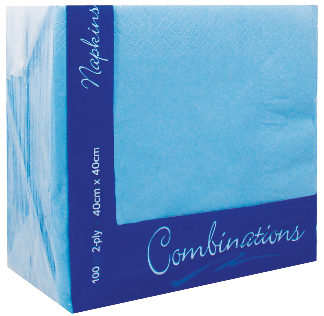 Cornflower Blue Napkins 2ply 40cm