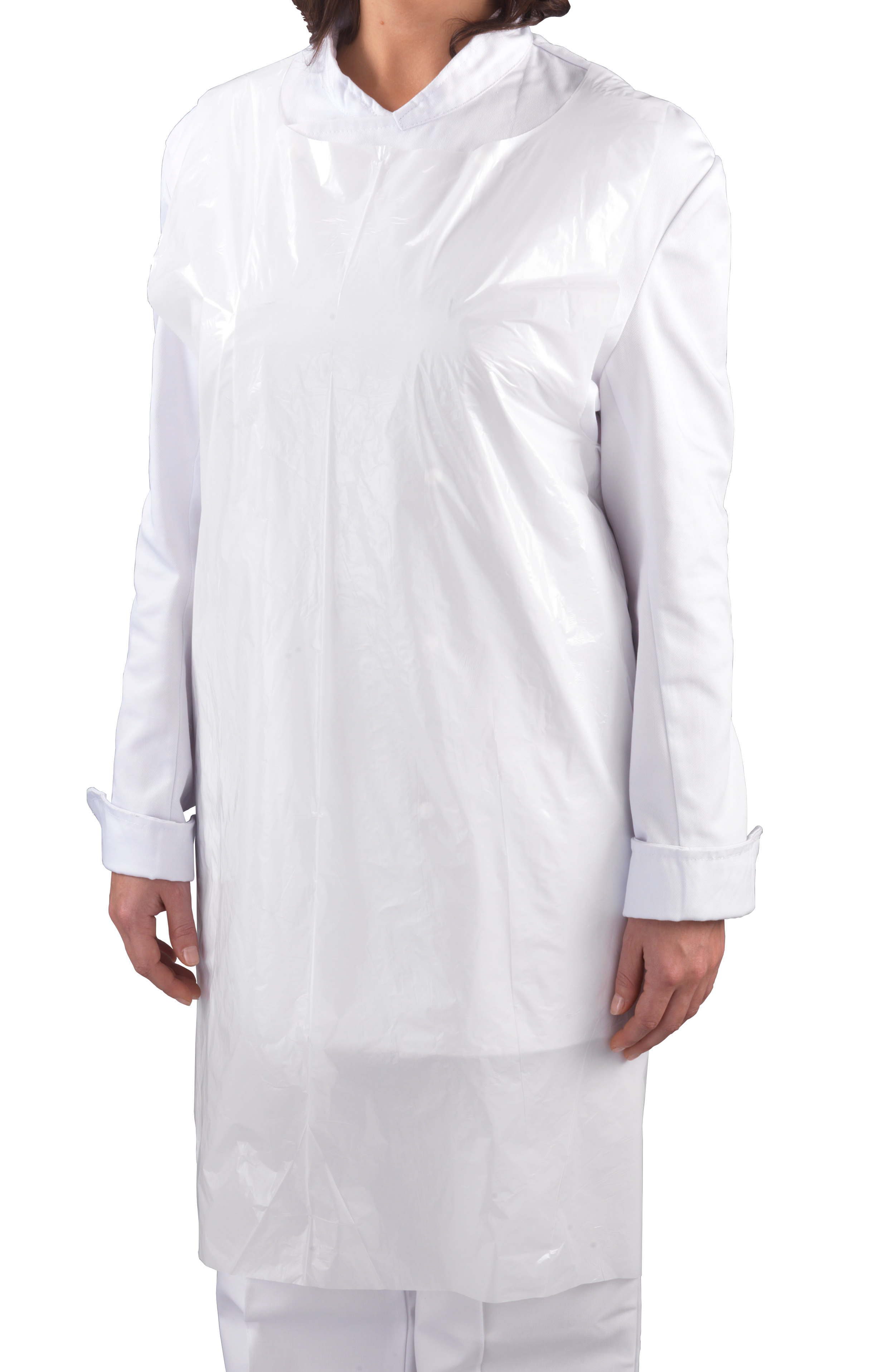 Plastic Aprons Flat Packed White