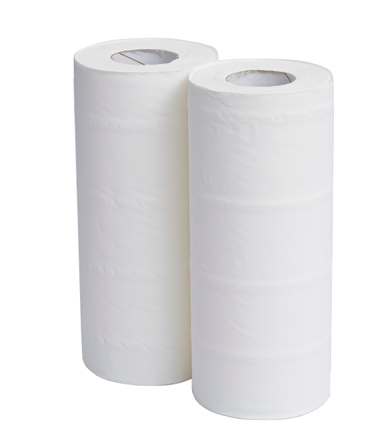 10inch Wiping Rolls 2Ply White