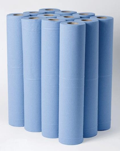 20inch Medical Couch Rolls 3ply Blue