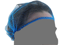 Blue Hairnets With Stapled Ends