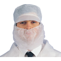 Disposable White Beard Masks