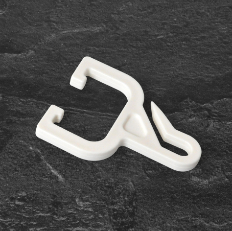 Cubicle Curtain Hook with Outside Runner