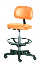 Select Practitioner Chair with Foot Ring Black