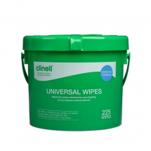 Clinell Sanitising Wipes Bucket (225 Wipes)
