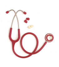 Spirit GP Stethoscope Adult Red