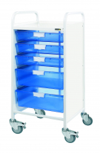 Vista 55 Trolley with 5 Clear Trays (2 Double Depth)
