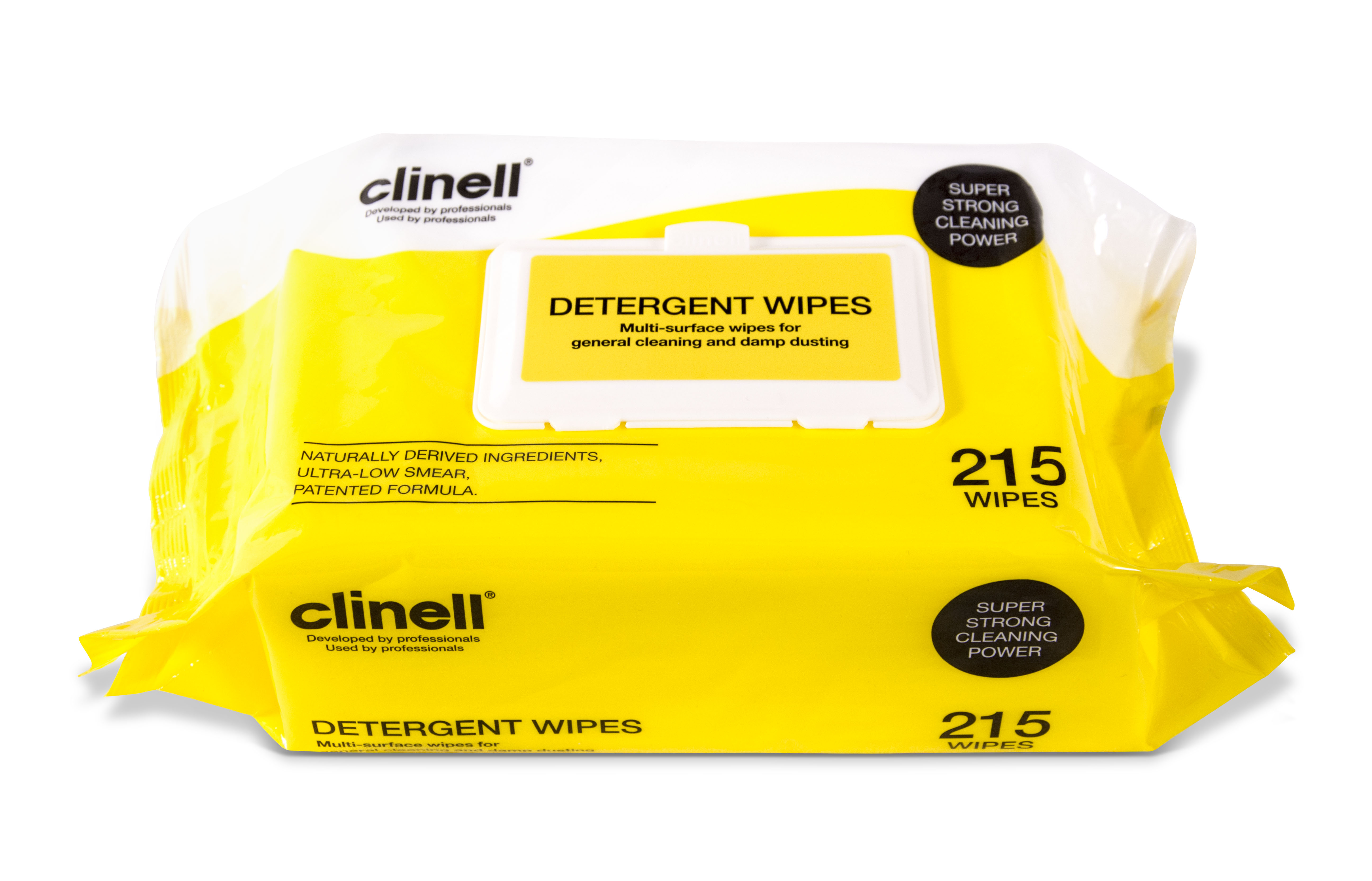 Clinell Detergent Wipes 215 Yellow