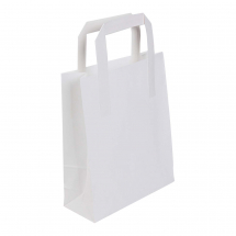 Plain White Paper Carrier Bags