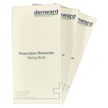 Prescription Remainder Owing Book