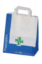 Paper Green Cross Carrier Bags Small 300(h)x250(w)x140(g)mm