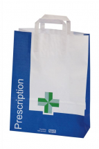 Paper Green Cross Carrier Bags Large 395(h)x300(w)x130(g)mm