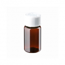 25ml Amber Plastic Pre-capped Unopac Bottles