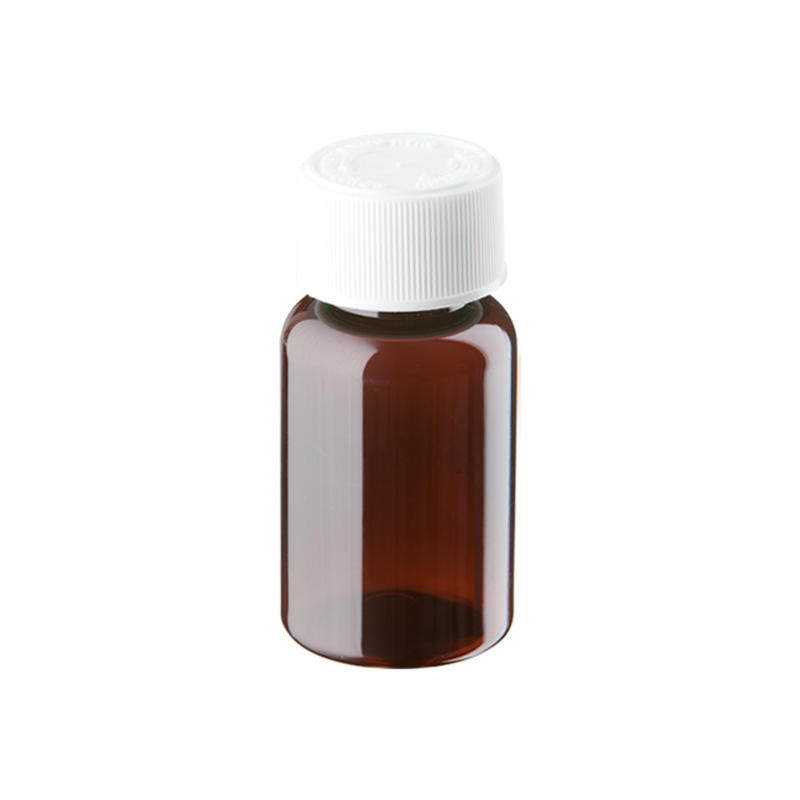 35ml Amber Plastic Pre-capped Unopac Bottles