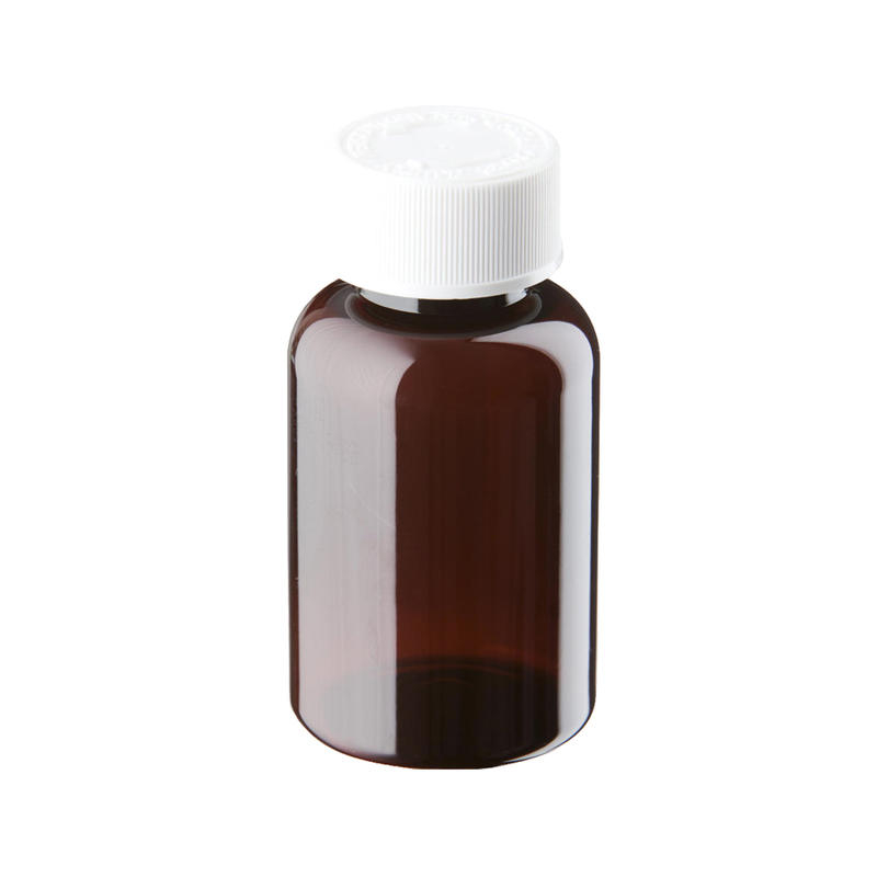 100ml Amber Plastic Pre-Capped Unopac Bottles