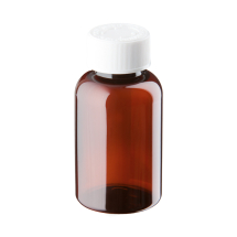 120ml Amber Plastic Pre-capped Unopac Bottles
