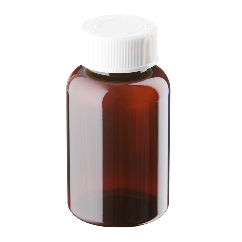 150ml Amber Plastic Pre-capped Unopac Bottles