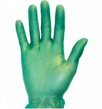 Vinyl Gloves Green