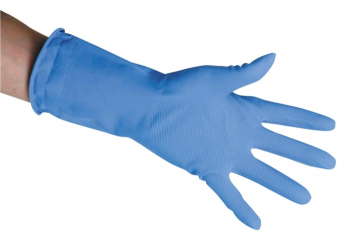 Blue Rubber Gloves